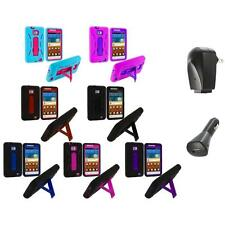 Hybrid Case Cover Stand+2X Chargers for Samsung Attain Galaxy S2 II i9100