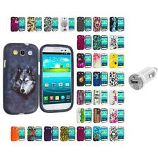 For Samsung Galaxy S3 Hard Design Snap-On Skin Case Cover USB Charger