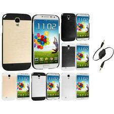 For Samsung Galaxy S4 Hybrid Brushed Sleek Hard TPU Case Cover Aux Cable