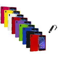 For Sony Xperia Z2 Hard Snap-On Matte Case Cover Accessory Stylus Plug