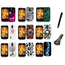 For ZTE Force N9100 Hard Design Rubberized Case Cover Accessory+Charger+Pen