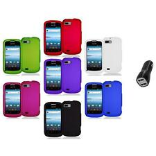 Color Hard Snap-On Rubberized Case Cover Accessory+2A Charger for ZTE Fury N850