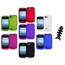 Color Hard Snap-On Rubberized Case Cover Accessory+Cable Wrap for ZTE Fury N850
