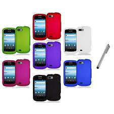 Color Hard Snap-On Rubberized Case Cover Accessory+Metal Pen for ZTE Fury N850