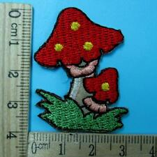Mushroom Iron on Sew Patch Applique Badge Embroidered Biker Cute Baby Food
