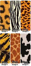 Personalised Animal Print Bookmark Design Gift Idea Present