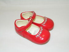 Girls Red Patent Formal Shoes Party Wedding Christening Infant Toddler size 3