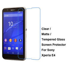 Tempered Glass / Clear / Matte Screen Protector Film Guard For Sony Xperia E4