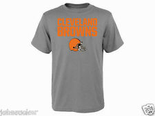 CLEVELAND BROWNS NFL TEAM APPAREL YOUTH HERITAGE GRAY T-SHIRT NWT FREE SHIPPING!