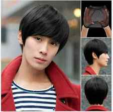 Fashion Men's Handsome Short Straight Cosplay Party Hair Wig Full Wigs + Wig Cap