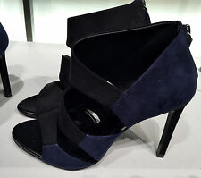 ZARA HIGH-HEEL TWO-TONE SANDALS BLACK/BLUE 36-41 Ref.  2642/101