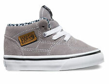 VANS TODDLER SHOES HALF CAB 6OZ CANVAS FROST GRAY AUSTRALIAN SELLER