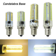 E12 Candelabra Base 64/80/104/152 3014 SMD LED Light Bulb Silicone Lamp 110/220V