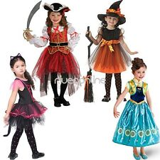 Girls Pirate Fairy Halloween Party Fancy Dress up Kids Costume Outfits with Hat