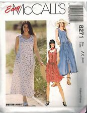 8271 UNCUT Vintage McCalls Pattern Misses Loose Fitting Jumper Sundress Easy OOP