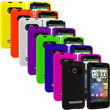 Color Silicone Rubber Gel Skin Case Cover for HTC Sprint EVO 4G Accessory