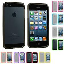 Color Transparent TPU Jelly Bumper Gel Case Skin Gel Cover for iPhone 5 5G 5th