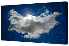 Angel Cloud Sky Heaven Wings Blue/White Box Framed Canvas Print Wall Art Picture