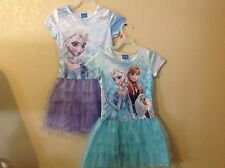 NEW Disney FROZEN ELSA, ANA, OLAF  TUTU DRESS Girl size S(6/6X) M(7/8) L(10/12)