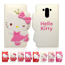 Hello Kitty Enamel Flip Leather Card Wallet Cover Case For LG Optimus G3 / Cat6