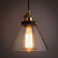 Vintage Pendant Lights Industrial Antique Ceiling Lamp Hanging Glass Shade