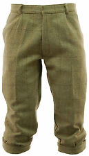 Mens Hunting Derby Tweed Plus Fours Breeches Breeks Light Sage Trousers