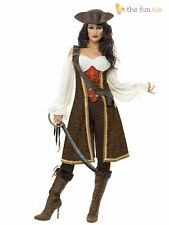 Adult Sexy High Seas Pirate Buccaneer Wench Ladies Fancy Dress Costume Outfit