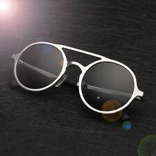 New Alunimium Polarized Sunglasses Mens Vintage Round Driving Glasses Eyewear HN