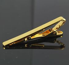 Gentlemens Necktie Pin Clip Plain Gold Silver Tone Metal Tie Bar New Clasp 5 cm