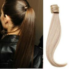 US Clip In Straight Hair Extension Pony Tail Wrap Around Ponytail Hair Piece G15