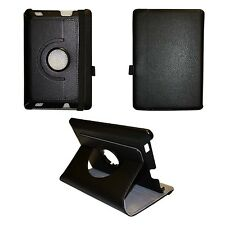 "BLACK AMAZON KINDLE HDX FIRE 7"" INCH PU LEATHER 360 DEGREE ROTATING CASE"