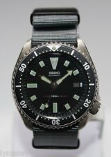 SEIKO 7002-7000 Vintage Diver Bond Watch Classic Dial Automatic Charcoal Grey