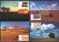 ART: PAINTINGS, AUSTRALIA DAY 1995 Scott 1418-1425, on 4 MAXI CARDS