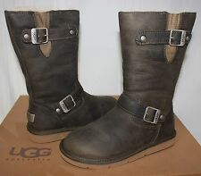 UGG Women's Kensington Olive Green Leather boots 5.5 - 6 - New With Box!