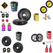 HPS 2 NEO CHROME STUNT SCOOTER SOLID METAL CORE WHEELS 110mm ABEC 11 BEARING 9