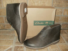 New Clarks Bushacre 2 Gray Leather Chukka Boot/ $100