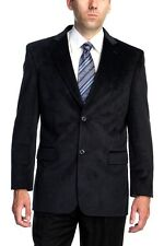 MENS SINGLE BREASTED TWO BUTTON BLACK/NAVY (#242) SPORT COAT