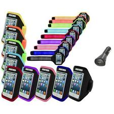 Color Premium Full Running Sports Gym Armband Case+Car Charger For iPhone 5 5S