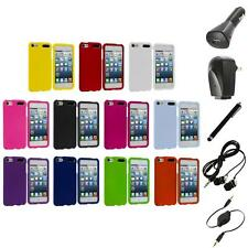 Color Snap-On Hard Rubberized Case Cover+Accessories for iPod Touch 5th Gen 5G 5