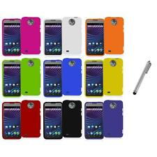 For ZTE Sprint Vital N9810 Hard Snap-On Rubberized Case Cover+Metal Pen