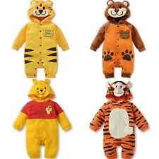 Baby Clothes Animal Sets Newborn Girl Boy Hoodie Romper Winter Outfits Babygrows