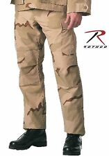 Rothco Mens Tri-Color Desert Camouflage BDU SWAT Cloth Cargo Pants