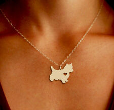 Westie Pendant Necklace - Gold or Silver - Ships from the USA!