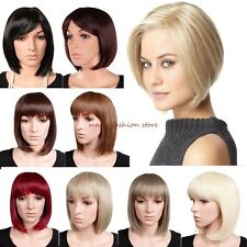Real Thick Short BOB Full Wig Cosplay Party Daily Dress Natural Look Blonde Z72