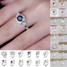 Wholesale JEWELLERY SOLID 925STERLING SILVER JEWELRY FASHION RING XMAS GIFT