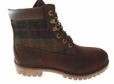 """Timberland A115P Mens 6"""" Inch Size Brown PLAID Panel Boots Double Sole NEW"""