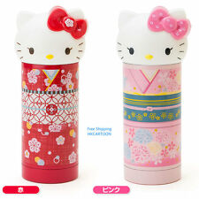 JAPAN HELLO KITTY HEAD SHAPE 360ML STAINLESS STEEL VACUUM BOTTLE WARM BOTTLE