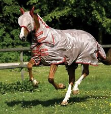 """Horseware Mio Combo UV FLY RUG Sun/Insect/Midge/Bug Protection 5'6""""-7'0 Red/Navy"""