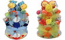 Twins nappy cake boy/girl  baby shower gift maternity present  pink blue yellow