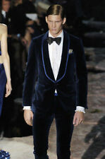 Velvet Mens Suits Groom Tuxedos Business Suits Wedding Tailcoats Custom made